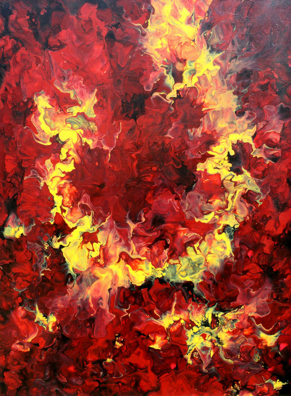 Breath of Fire - Fluid Acrylic Art by Eric Siebenthal - Acrylicmind.com