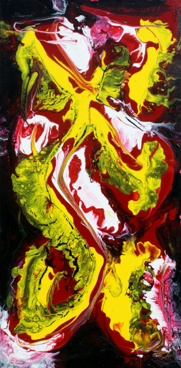Dancer - Fluid Acrylic Art by Eric Siebenthal - Acrylicmind.com