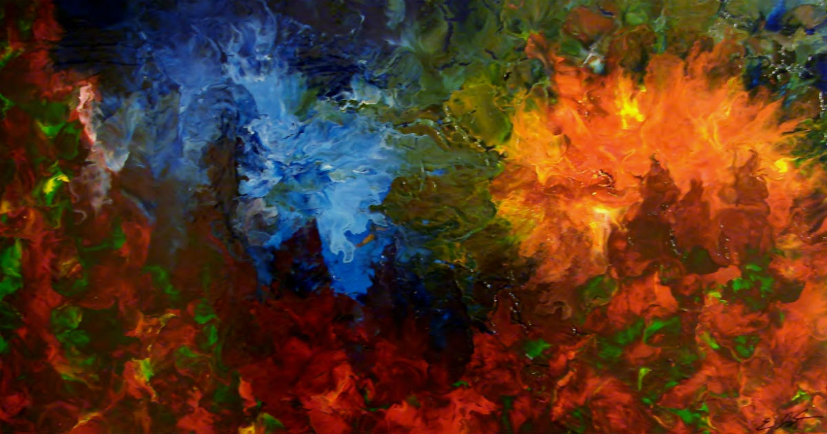 Twilight - Fluid Acrylic Art by Eric Siebenthal - Acrylicmind.com