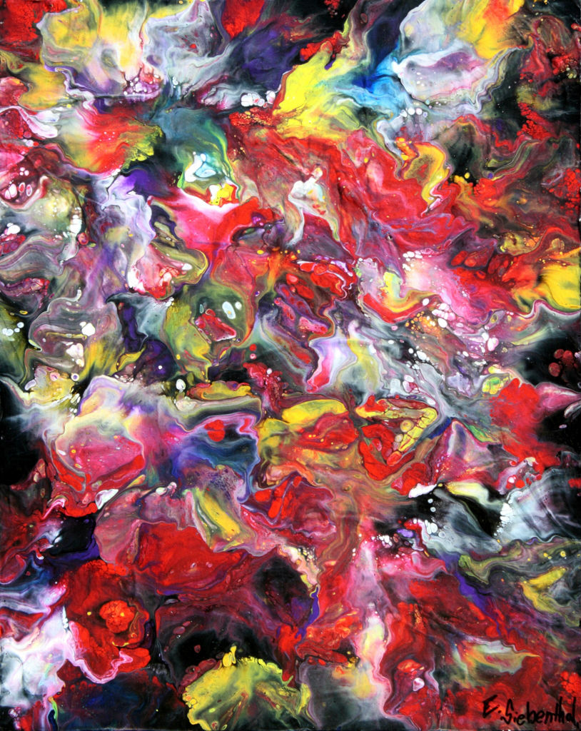 Afterglow - Fluid Acrylic Art by Eric Siebenthal - Acrylicmind.com