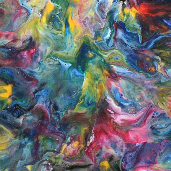 From Above and Below - Fluid Acrylic Art by Eric Siebenthal - Acrylicmind.com