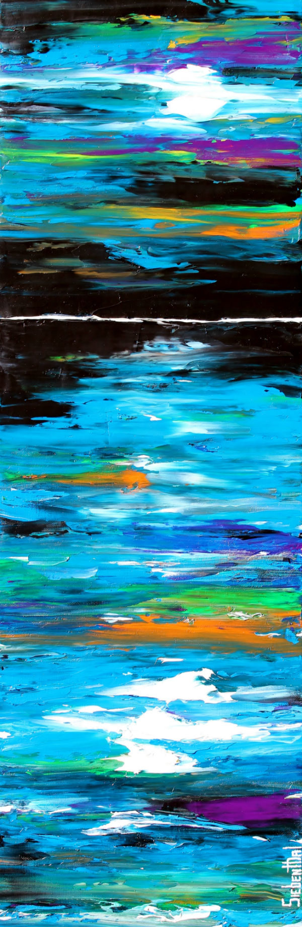 Night Shade - Oil Painting - Palette Knife by Eric Siebenthal