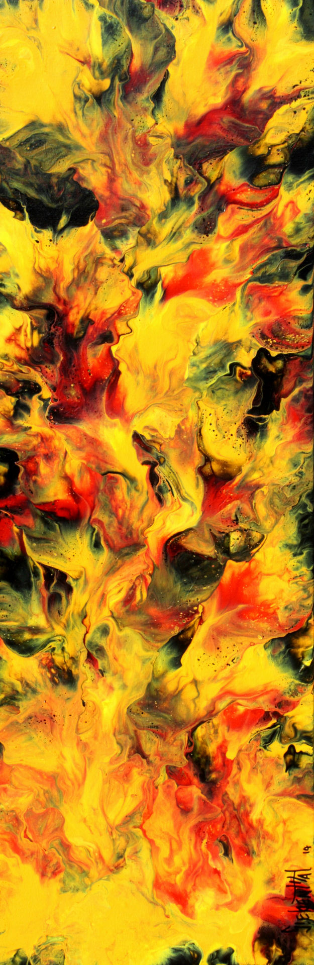 The Fire - Fluid Acrylic Art by Eric Siebenthal - Acrylicmind.com