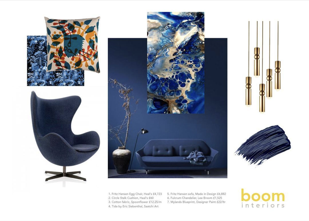 Boom Interiors - Designer Clare Middleton - Fluid Acrylic Art by Eric Siebenthal