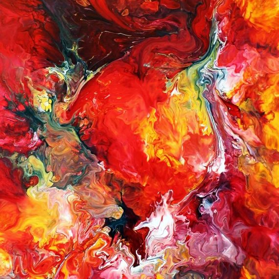 Passion - Fluid Acrylic Art by Eric Siebenthal - Acrylicmind.com