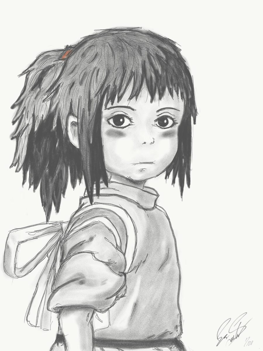 Chihiro - Digital Sketch Art by Eric Siebenthal - Acrylicmind.com