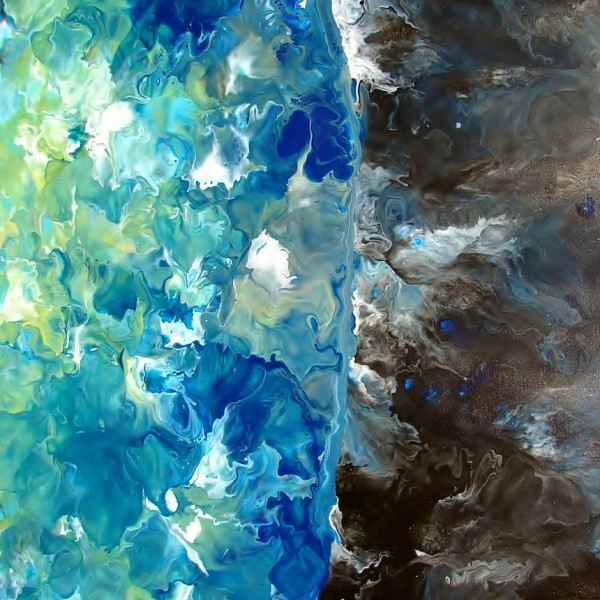 Earth - Fluid Acrylic Art by Eric Siebenthal - Acrylicmind.com