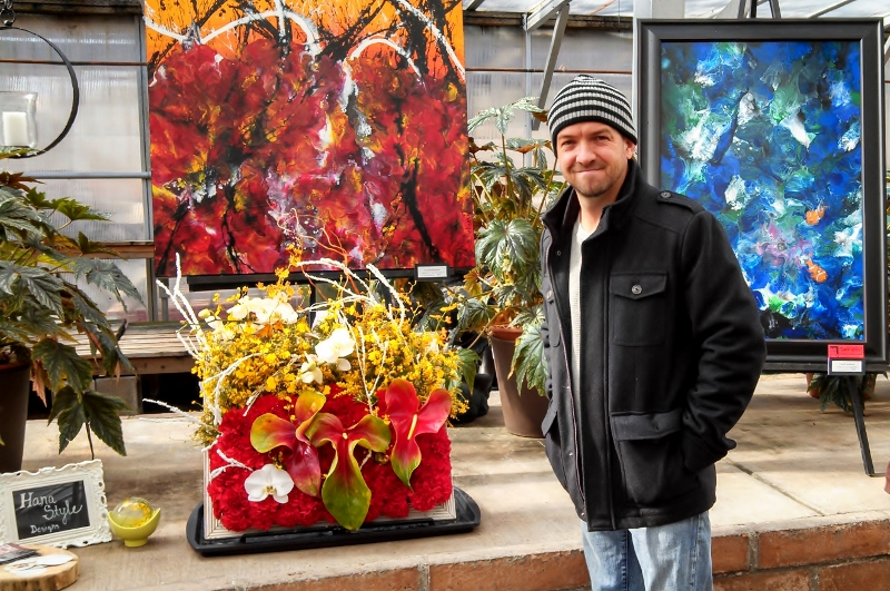 Art in Bloom-2014-Artist Eric Siebenthal