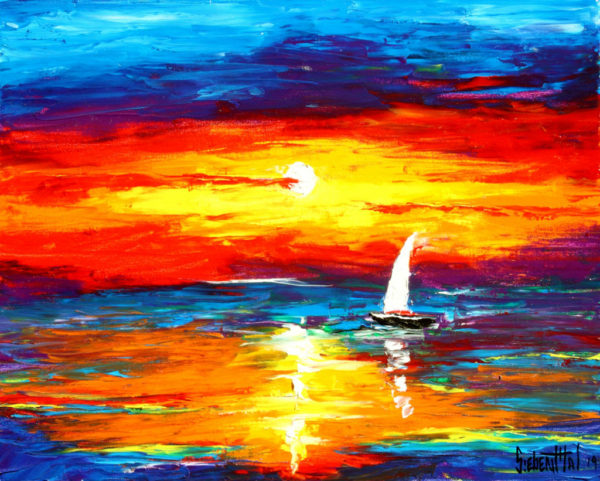 Leonid Afremov - Oil Painting by Eric Siebenthal